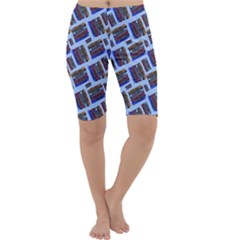 Abstract Pattern Seamless Artwork Cropped Leggings