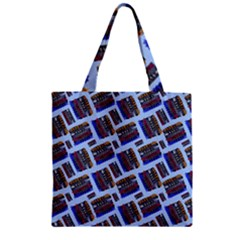 Abstract Pattern Seamless Artwork Zipper Grocery Tote Bag