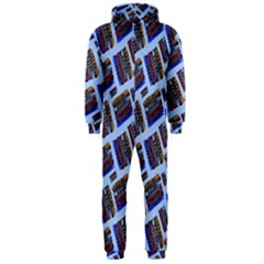 Abstract Pattern Seamless Artwork Hooded Jumpsuit (Men)