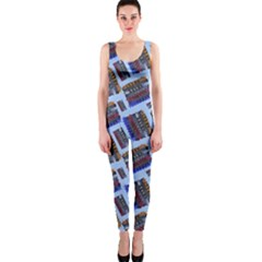 Abstract Pattern Seamless Artwork OnePiece Catsuit