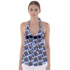 Abstract Pattern Seamless Artwork Babydoll Tankini Top