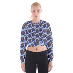 Abstract Pattern Seamless Artwork Women s Cropped Sweatshirt