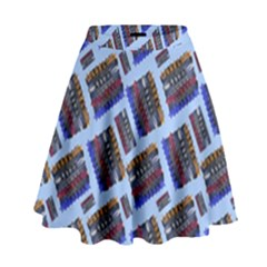 Abstract Pattern Seamless Artwork High Waist Skirt