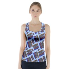 Abstract Pattern Seamless Artwork Racer Back Sports Top