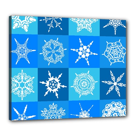 Background Blue Decoration Canvas 24  x 20