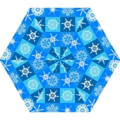 Background Blue Decoration Mini Folding Umbrellas