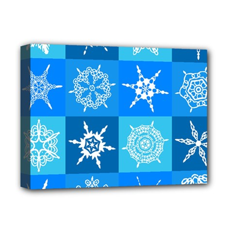 Background Blue Decoration Deluxe Canvas 16  x 12