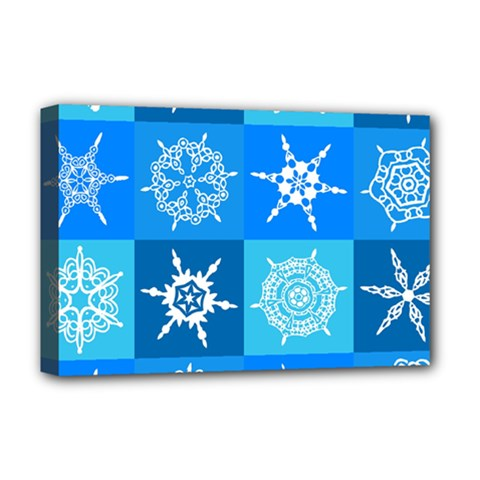 Background Blue Decoration Deluxe Canvas 18  x 12