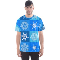 Background Blue Decoration Men s Sport Mesh Tee