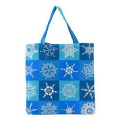 Background Blue Decoration Grocery Tote Bag