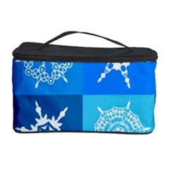 Background Blue Decoration Cosmetic Storage Case