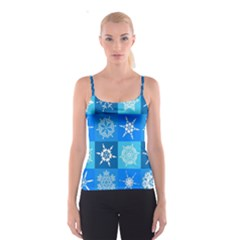 Background Blue Decoration Spaghetti Strap Top