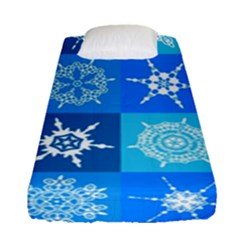 Background Blue Decoration Fitted Sheet (Single Size)
