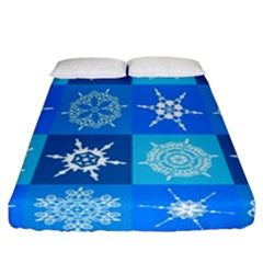 Background Blue Decoration Fitted Sheet (California King Size)