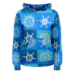 Background Blue Decoration Women s Pullover Hoodie