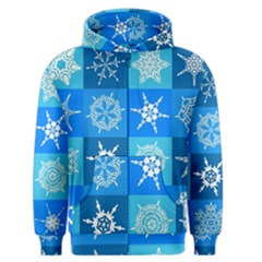 Background Blue Decoration Men s Zipper Hoodie