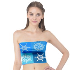 Background Blue Decoration Tube Top