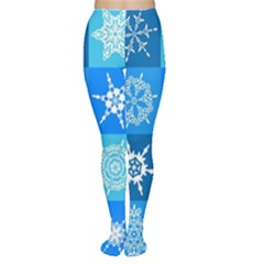 Background Blue Decoration Women s Tights