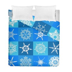Background Blue Decoration Duvet Cover Double Side (Full/ Double Size)