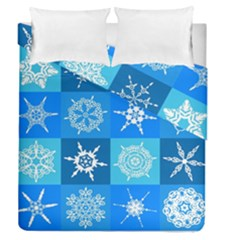 Background Blue Decoration Duvet Cover Double Side (Queen Size)