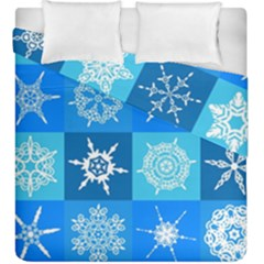 Background Blue Decoration Duvet Cover Double Side (King Size)