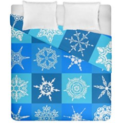 Background Blue Decoration Duvet Cover Double Side (California King Size)