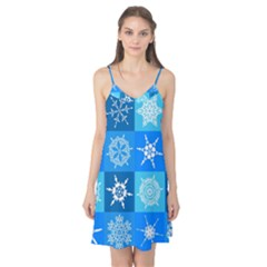 Background Blue Decoration Camis Nightgown