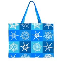 Background Blue Decoration Large Tote Bag