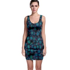 Background Abstract Textile Design Sleeveless Bodycon Dress