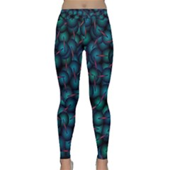 Background Abstract Textile Design Classic Yoga Leggings