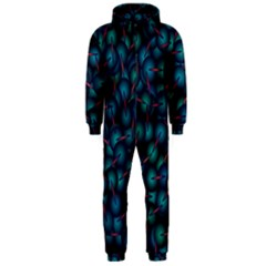 Background Abstract Textile Design Hooded Jumpsuit (Men)