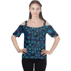 Background Abstract Textile Design Women s Cutout Shoulder Tee