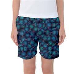 Background Abstract Textile Design Women s Basketball Shorts