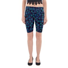 Background Abstract Textile Design Yoga Cropped Leggings