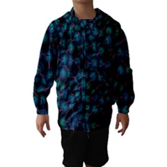 Background Abstract Textile Design Hooded Wind Breaker (Kids)