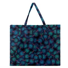 Background Abstract Textile Design Zipper Large Tote Bag