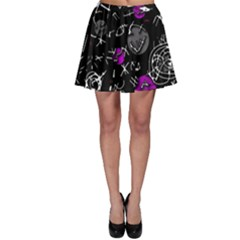 Purple mind Skater Skirt