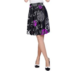 Purple mind A-Line Skirt