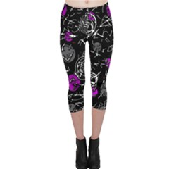 Purple mind Capri Leggings