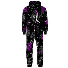 Purple mind Hooded Jumpsuit (Men)