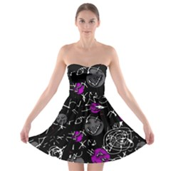 Purple mind Strapless Bra Top Dress