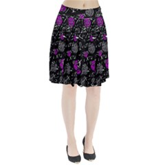 Purple mind Pleated Skirt