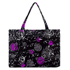 Purple Mind Medium Zipper Tote Bag