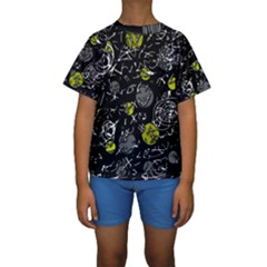 Yellow mind Kids  Short Sleeve Swimwear