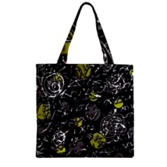 Yellow mind Zipper Grocery Tote Bag