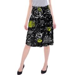 Yellow mind Midi Beach Skirt