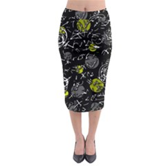 Yellow mind Midi Pencil Skirt