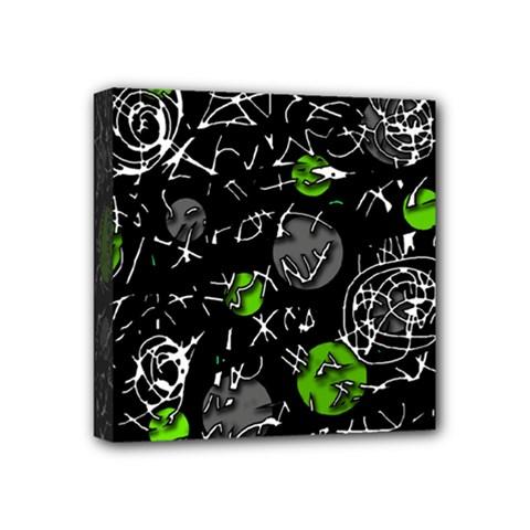 Green mind Mini Canvas 4  x 4