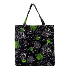 Green mind Grocery Tote Bag