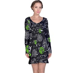 Green mind Long Sleeve Nightdress